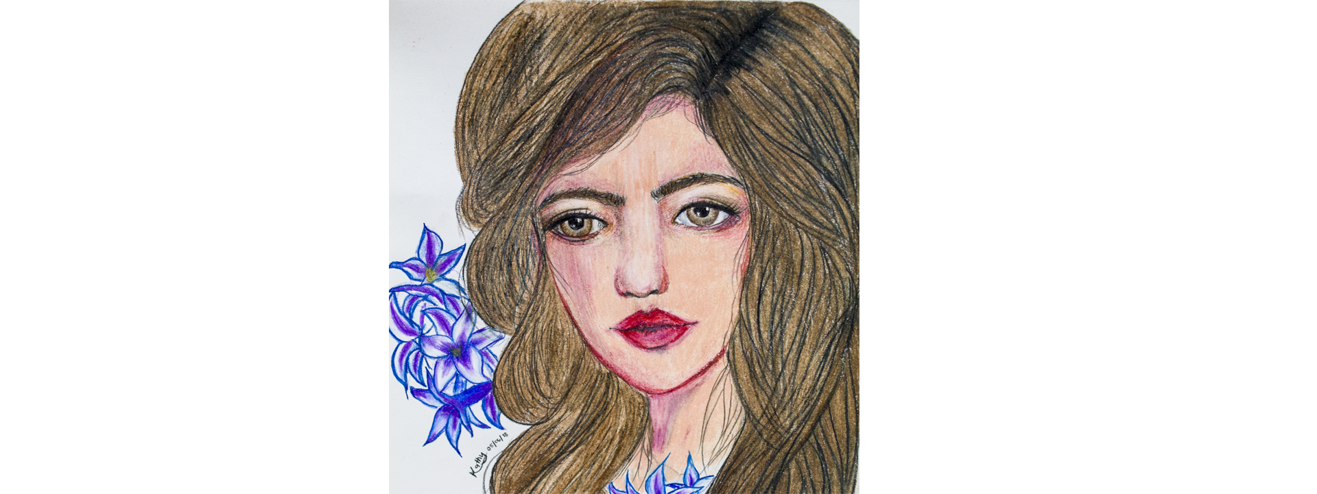 png library download My hyacinth kath s. Drawing portrait colored pencil