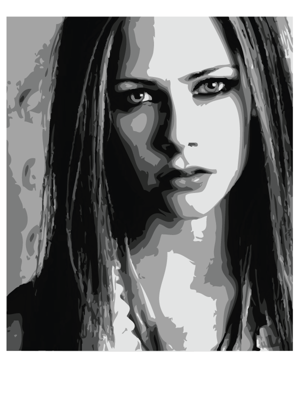 image freeuse download Avril lavigne vector by. Drawing portrait dark