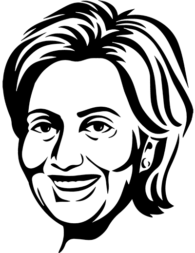 vector transparent library Pro hillary black sketch. Drawing portrait easy