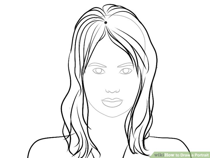 vector freeuse download  ways to draw. Drawing portrait human