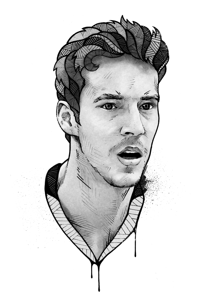 clipart black and white download Drawing portrait illustration. Showcase and discover creative