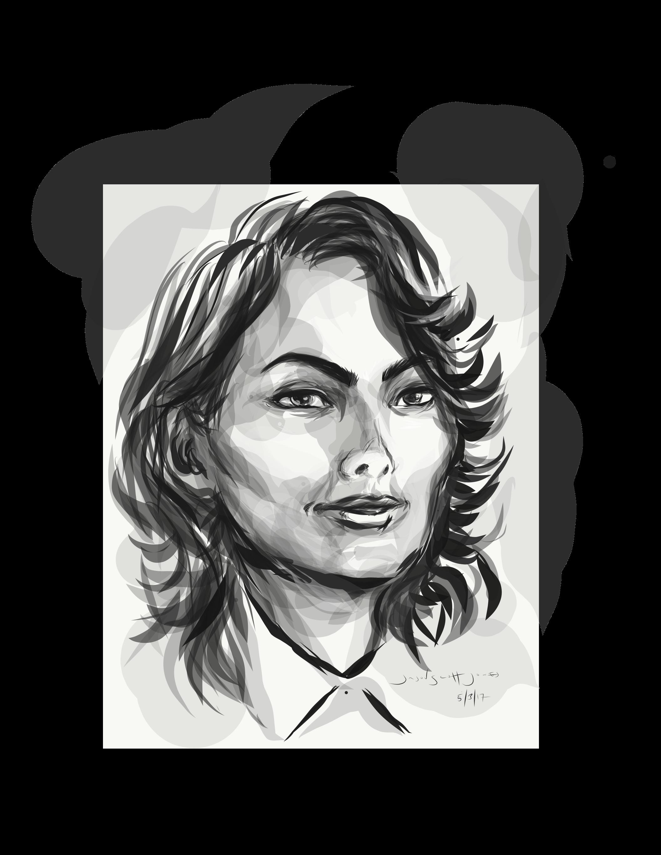 image transparent stock Drawing portrait illustration. Adobe draw made of