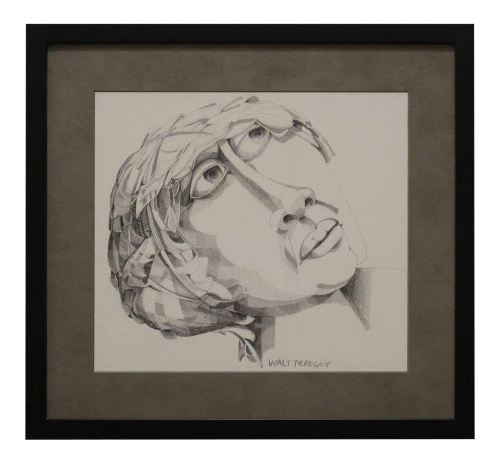 graphic library download Drawing portrait illustration. Graphite by walter peregoy