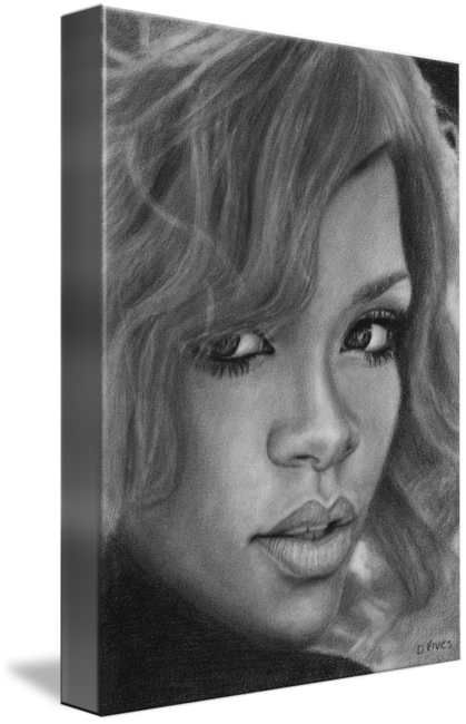 picture free library Drawing portrait pencil. Rihanna by david rives
