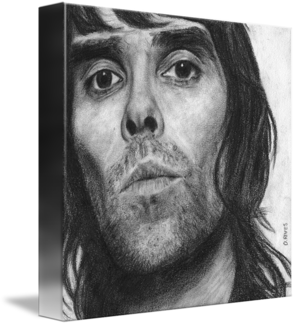 transparent stock Drawing portrait pencil. Ian brown by david