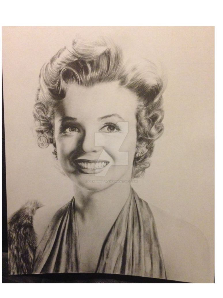 vector freeuse stock Marilyn monroe by mexibonilla. Drawing portrait person
