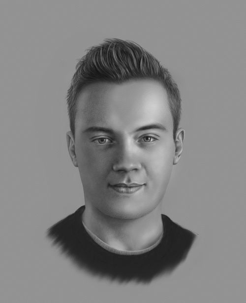 picture freeuse Charcoal portraits . Drawing portrait person