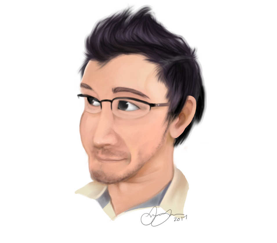 svg black and white library Markiplier practice by freeze. Drawing portrait realism