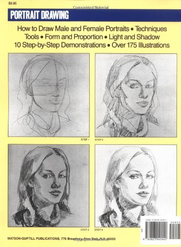 clip Drawing portrait step by. A art instruction book