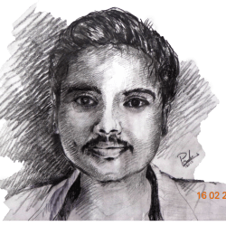 graphic royalty free Drawing portrait. Draw your realistic by