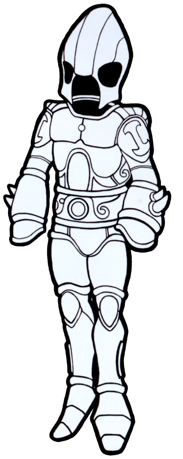 royalty free Drawing power armor. Collection of free leg