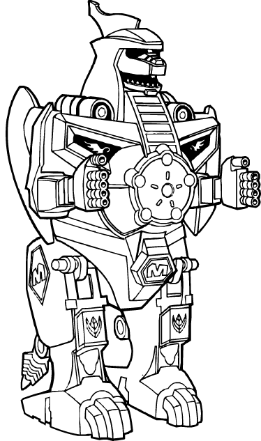 jpg royalty free download Dragonzord ranger kids sticker. Drawing power kid