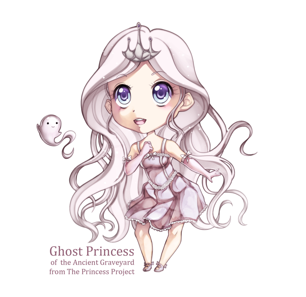 vector transparent library Ghost chibi extra by. Drawing princess anime girl