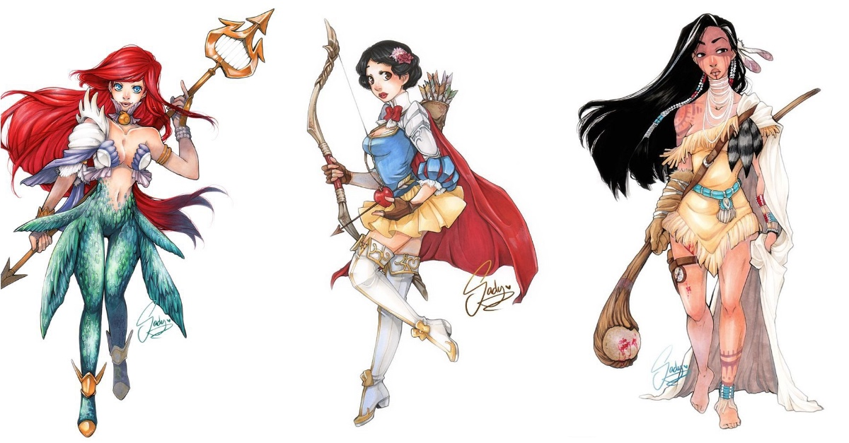 picture transparent library Drawing princess badass. This artist re imagined