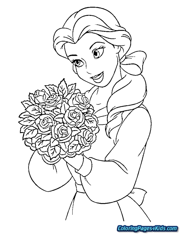 png free Belle coloring pages for. Drawing princess beauty and the beast
