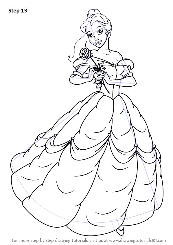 clip art library download Drawing princess beauty and the beast. Learn how to draw
