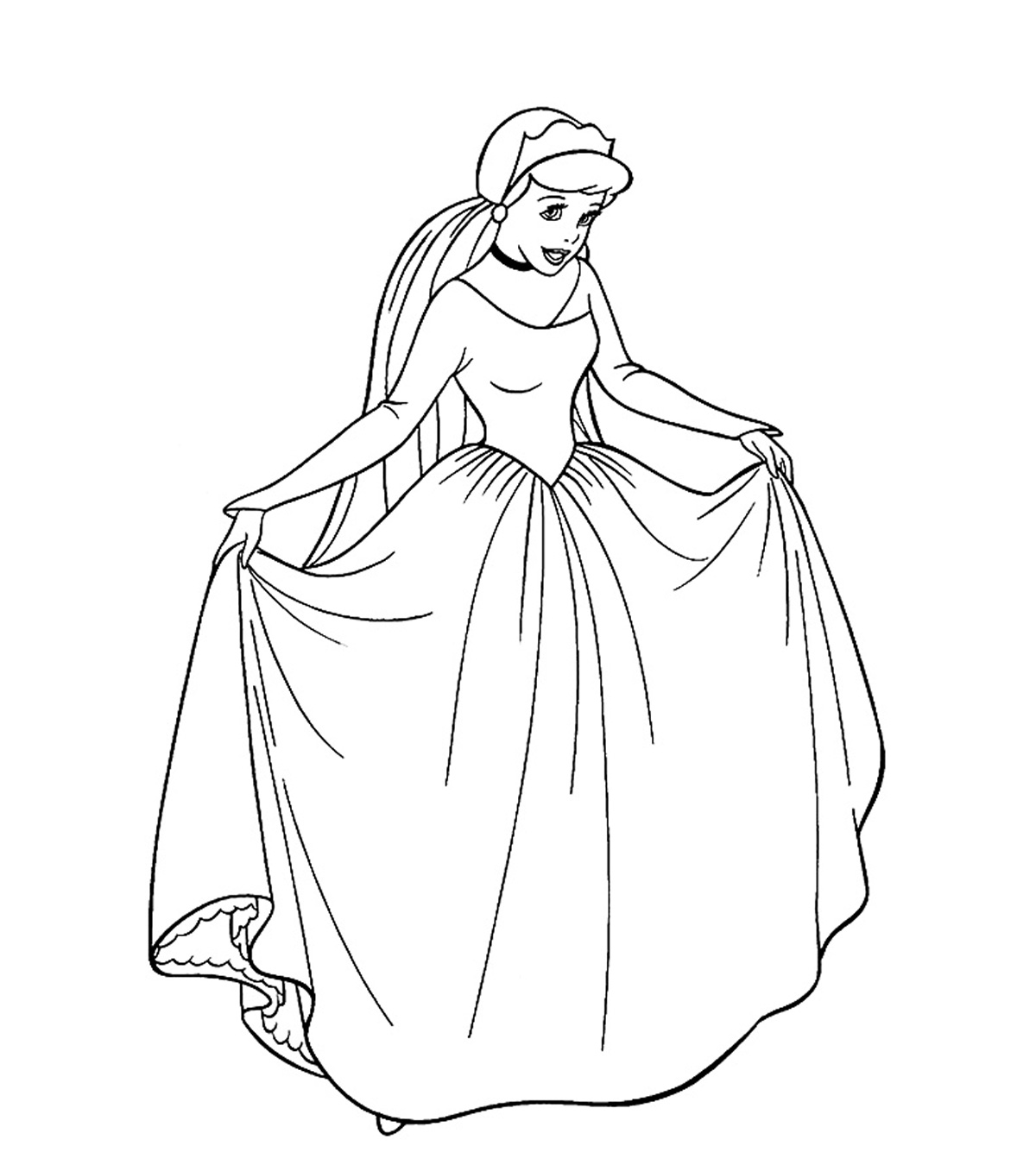 svg royalty free stock Top free printable pages. Drawing princess coloring