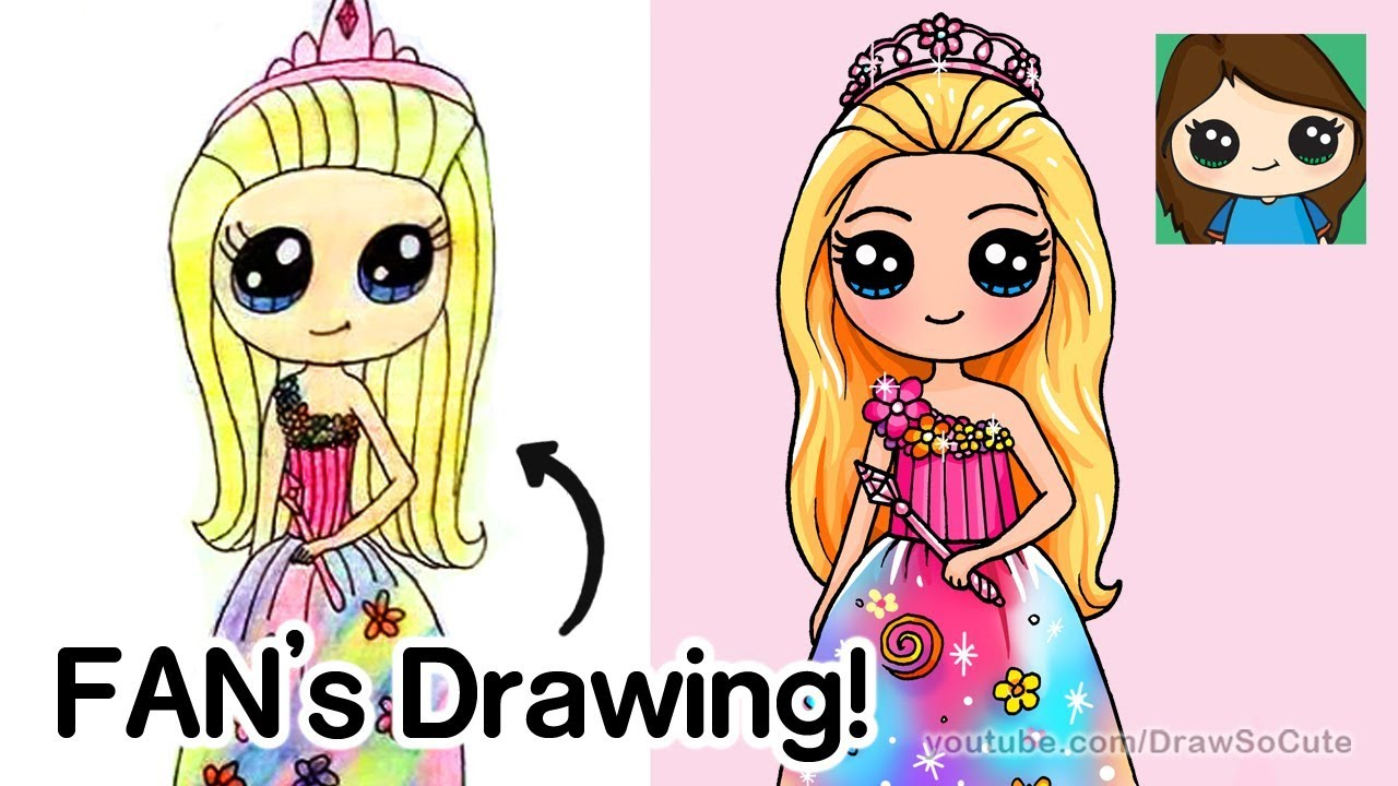 svg black and white Drawing princess cute. A fan s barbie