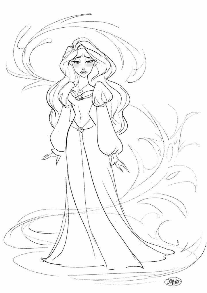 svg freeuse Disney princesses art . Drawing princess odette