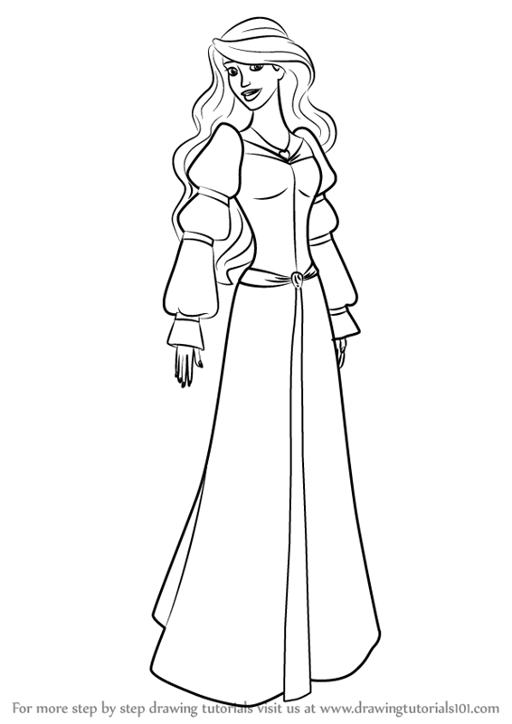png library Drawing princess odette. Learn how to draw