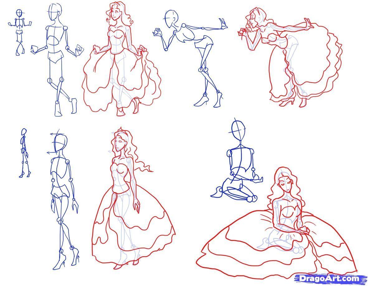 jpg library stock Pin by ebonyivory on. Drawing princess pose