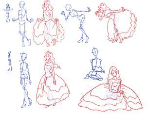 black and white library Pin by sarah louise. Drawing princess pose
