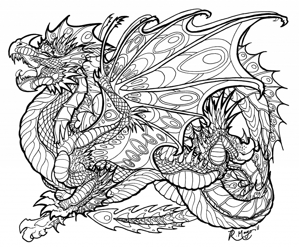 graphic freeuse Drawing printables dragon. Evil coloring pages for