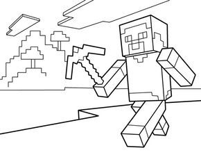 graphic transparent stock Drawing printables minecraft. Coloring pages free printable