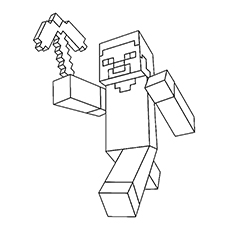 picture black and white Drawing printables minecraft.  awesome printable coloring