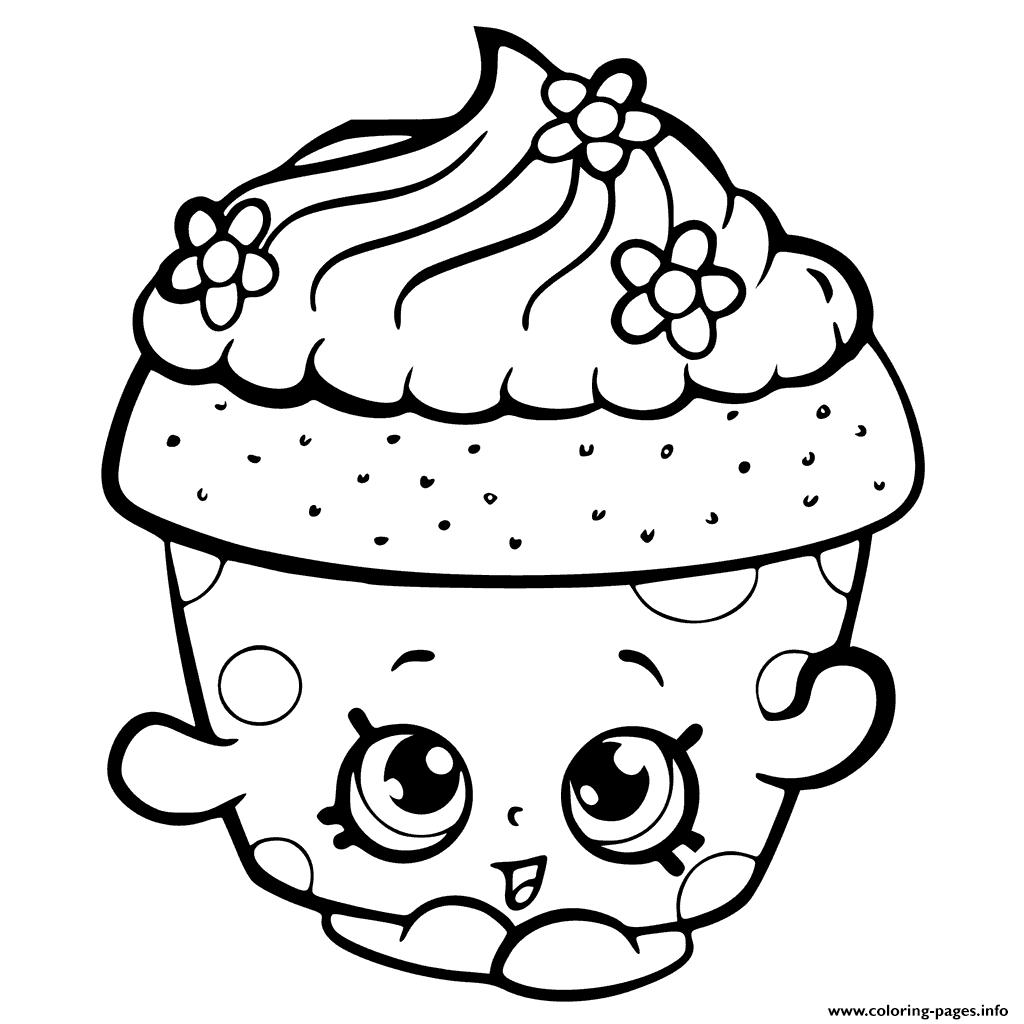 clip freeuse library Drawing printables shopkins. Print season cupcake petal