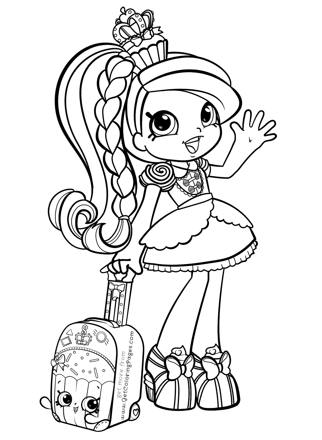 graphic royalty free stock Drawing printables shopkins. Shoppies coloring pages pinterest