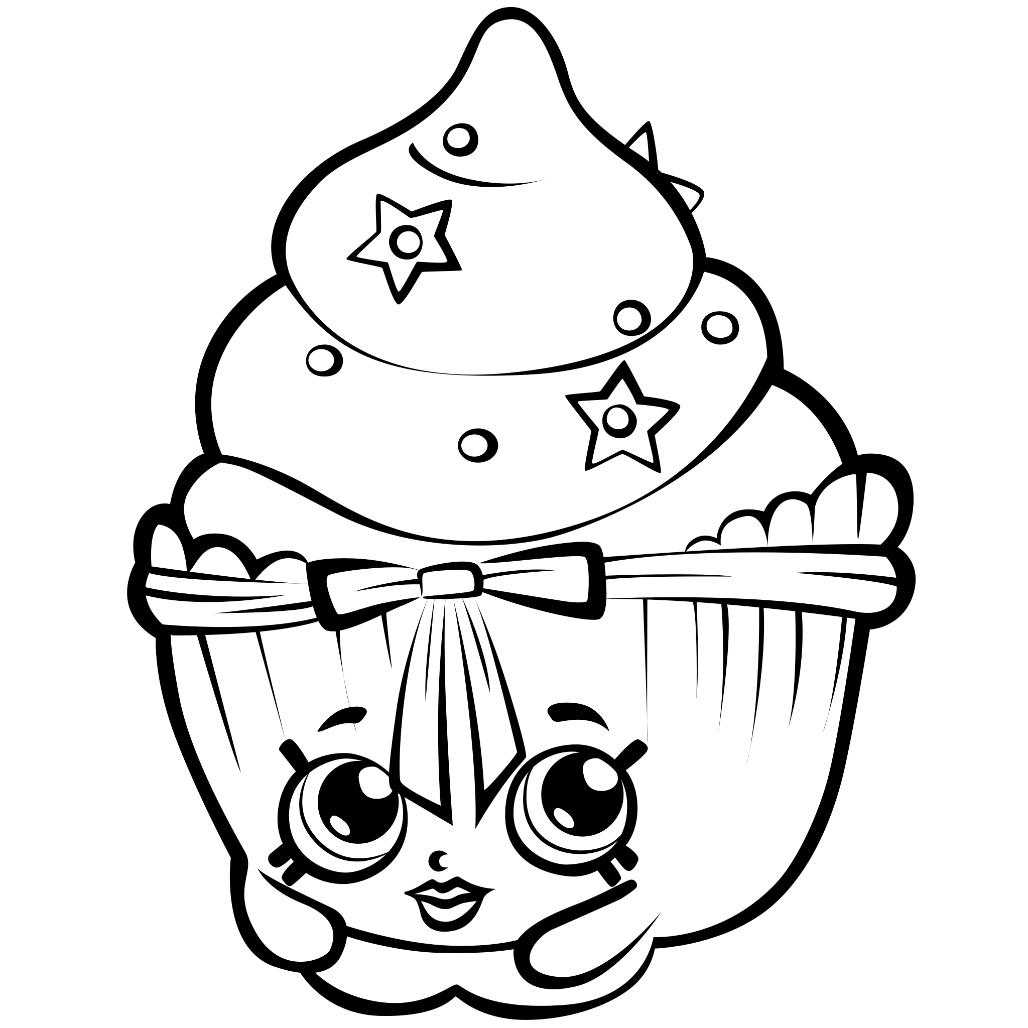 vector black and white library Coloring pages best for. Drawing printables shopkins