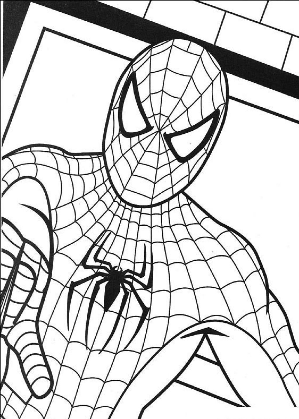 png black and white Free printable coloring pages. Drawing printables spiderman