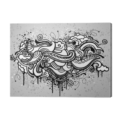 jpg transparent download Grunge canvas print pixers. Drawing prints abstract