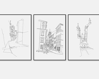 image free stock Etsy . Drawing prints architecture