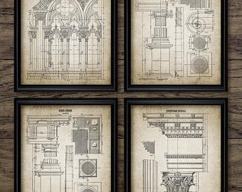 clip art transparent download Drawing prints architecture. Architectural print etsy