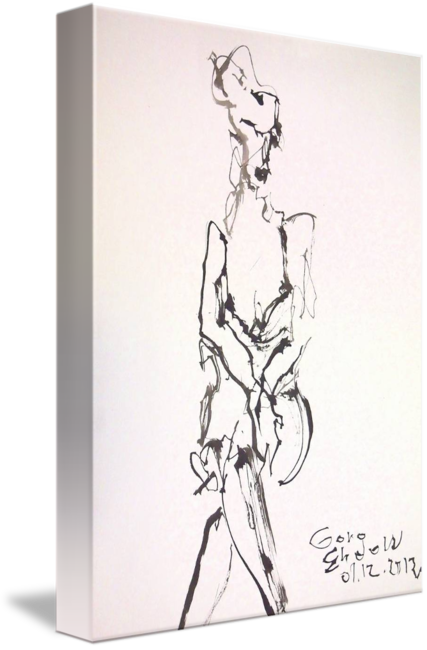 picture black and white library Icy legs by goro. Drawing prints ink