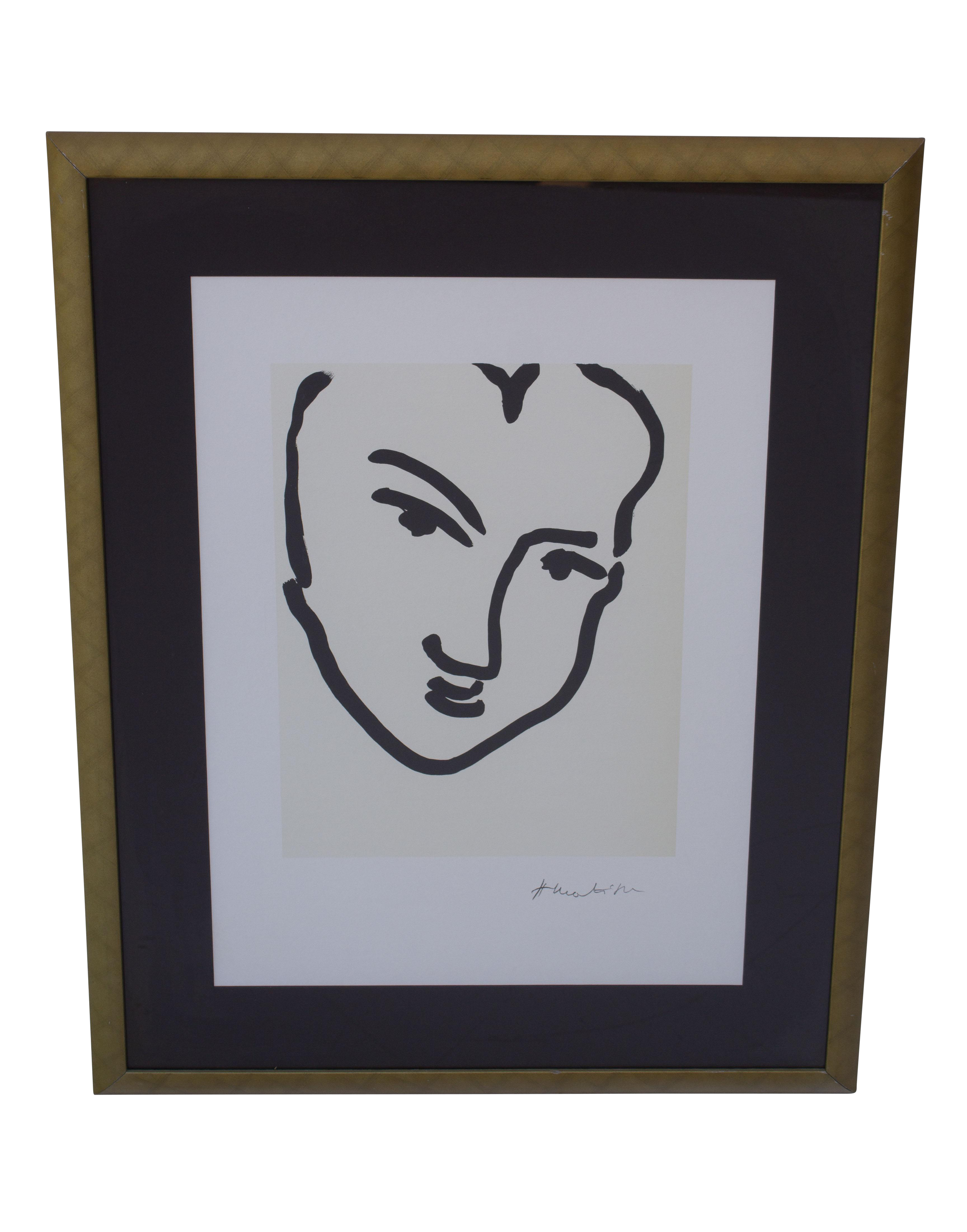 vector free library Drawing prints matisse. Framed black and white