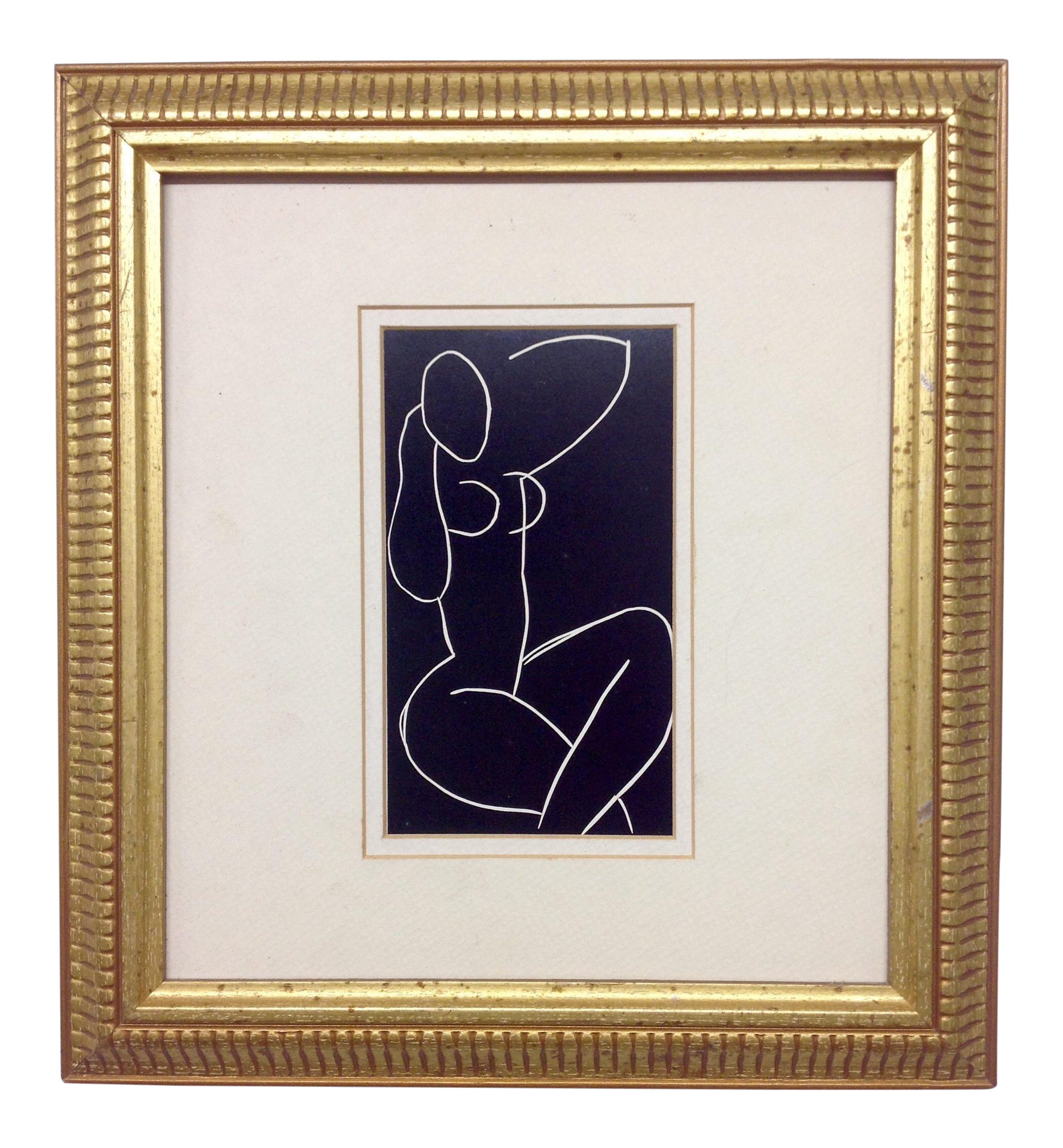 image black and white library Drawing prints matisse. White black print of