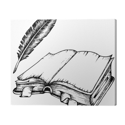 png royalty free stock Of opened book with. Drawing prints pen