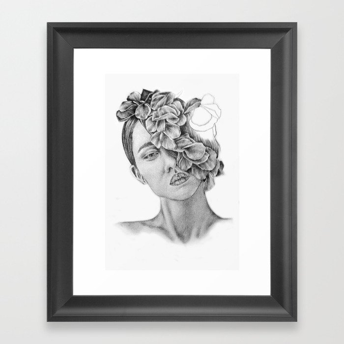 clip art free stock Drawing prints wall art. Pencil illustration portrait model