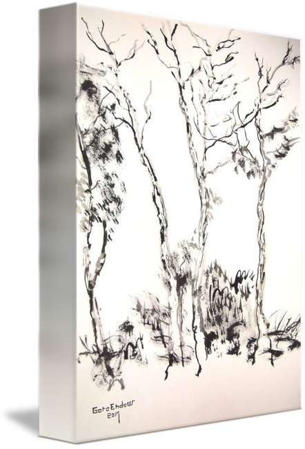 image black and white library Study of trees by. Drawing prints wall art