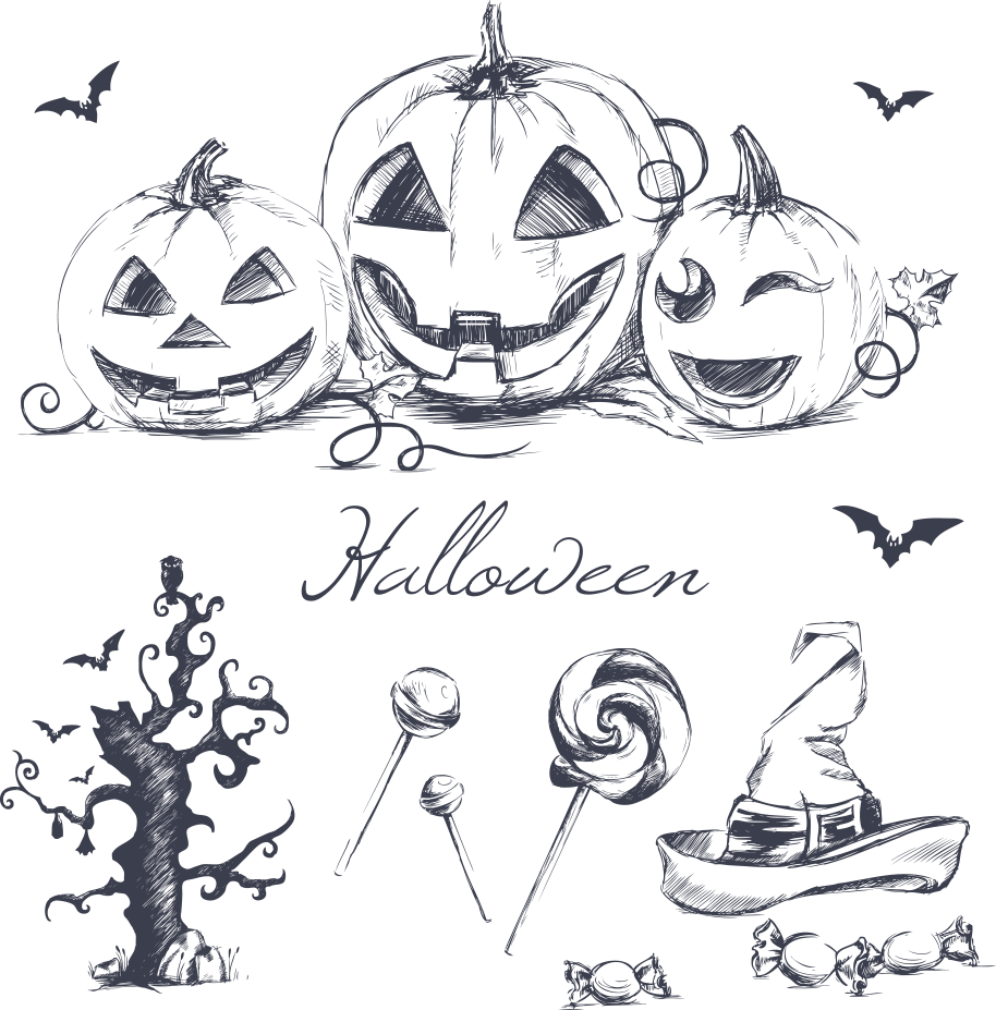 png free stock Halloween wallpaper vector painted. Drawing pumpkin