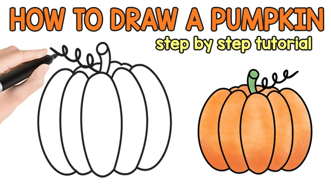 jpg library download How to draw a. Drawing pumpkin