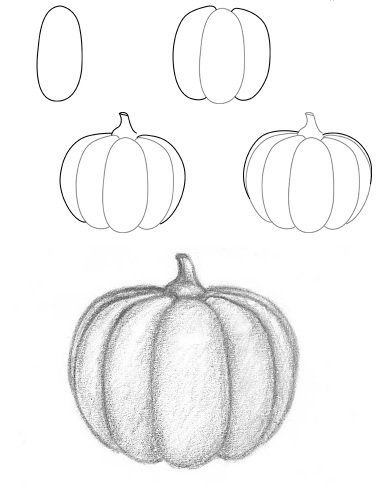 clipart library library Learn to draw for. Drawing pumpkin