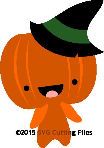 clip transparent stock Chibi Halloween Pumpkin
