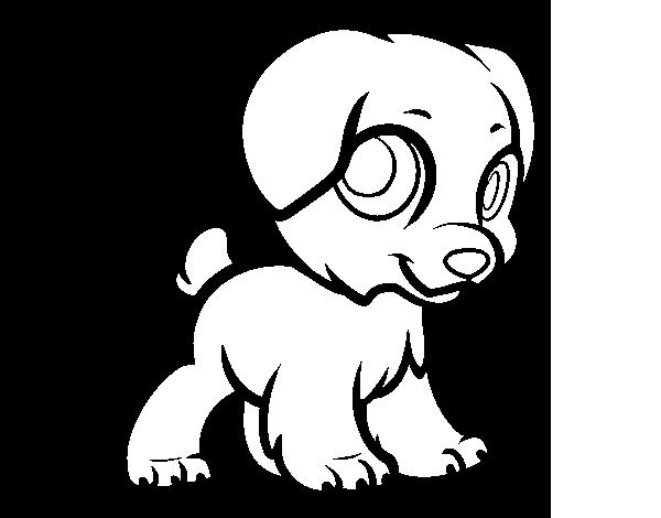 jpg free stock Delicate Puppy Coloring Page Photos Happy Puppy Coloringcrew Com