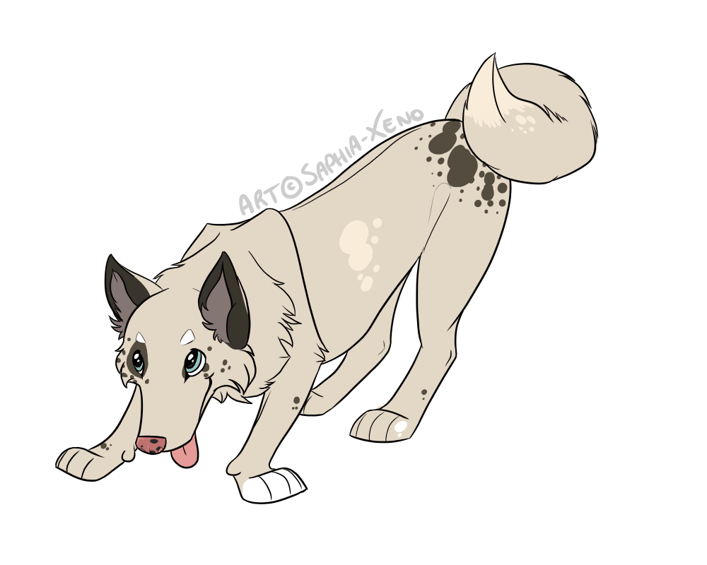 graphic free Moose puppy full body by Saphia