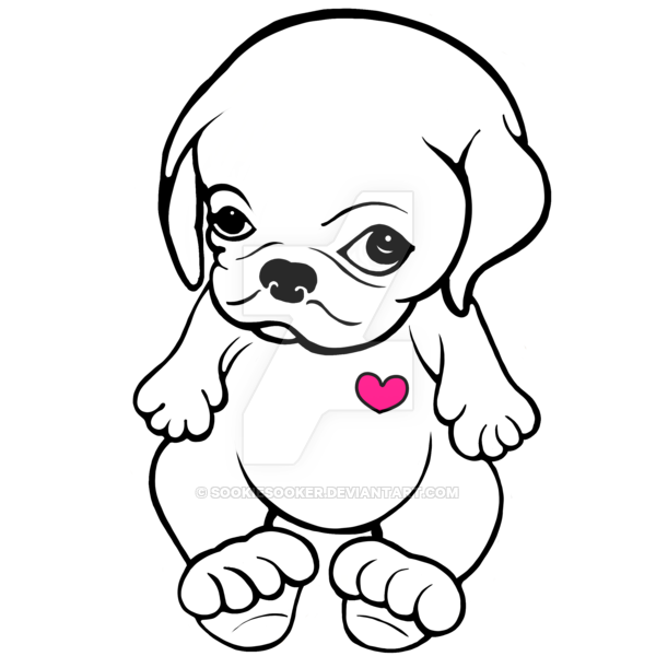 graphic freeuse Pug Puppy Drawing at GetDrawings