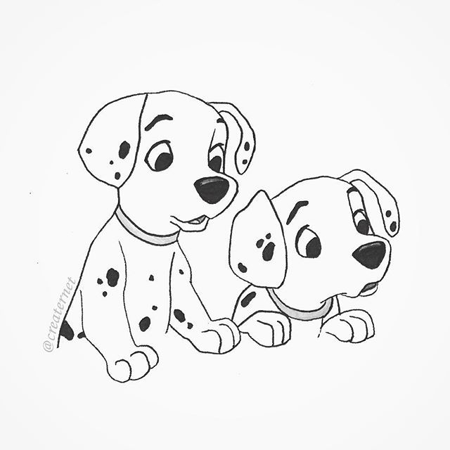vector library A quick little illustration of two cute puppies from
